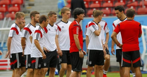 Loew with the German team
