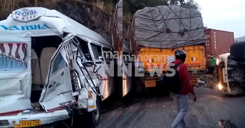 Three killed in 6-vehicle pileup in Thrissur's Kuthiran