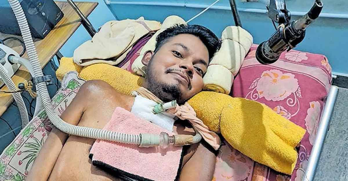 For 13 years, a Keralite man has been living with the help of home ventilator