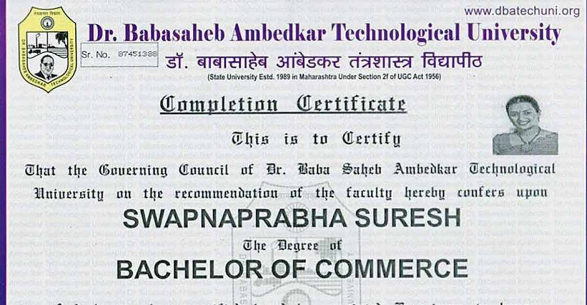 Swapna got fake degree certificate through Punjab entity, paid Rs 1L