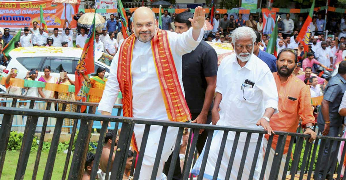 Adityanath, Scindia, Shah to hit the road along with Surendran to spearhead BJP campaign