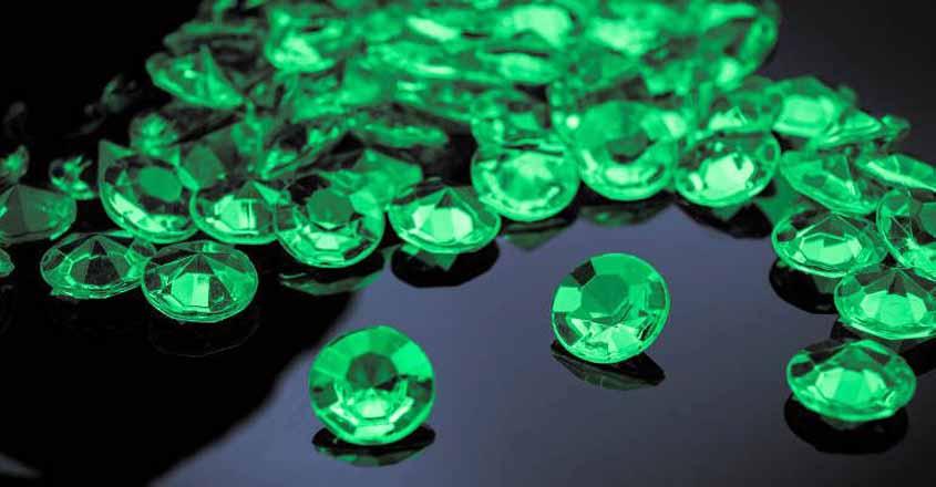 Green gem emerald