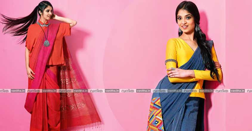 single-colour-sari