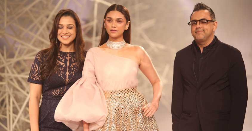 New Delhi: Actress Aditi Rao Hydari walks the ramp for designer duo Pankaj and Nidhi at India Couture Week 2019 in New Delhi, on July 24, 2019. (Photo: Amlan Paliwal/IANS)