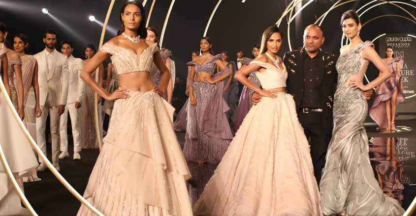 New Delhi: Actress Diana Penty walks the ramp for designer Gaurav Gupta at India Couture Week  on July 27, 2019 (Photo: Amlan Paliwal/IANS)
