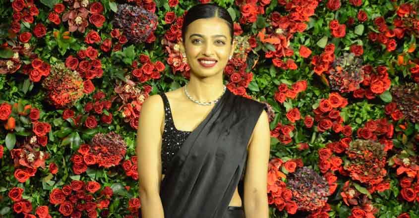 Mumbai: Actress Radhika Apte at the wedding reception of actors Ranveer Singh and Deepika Padukone in Mumbai, on Dec 1, 2018. (Photo: IANS)