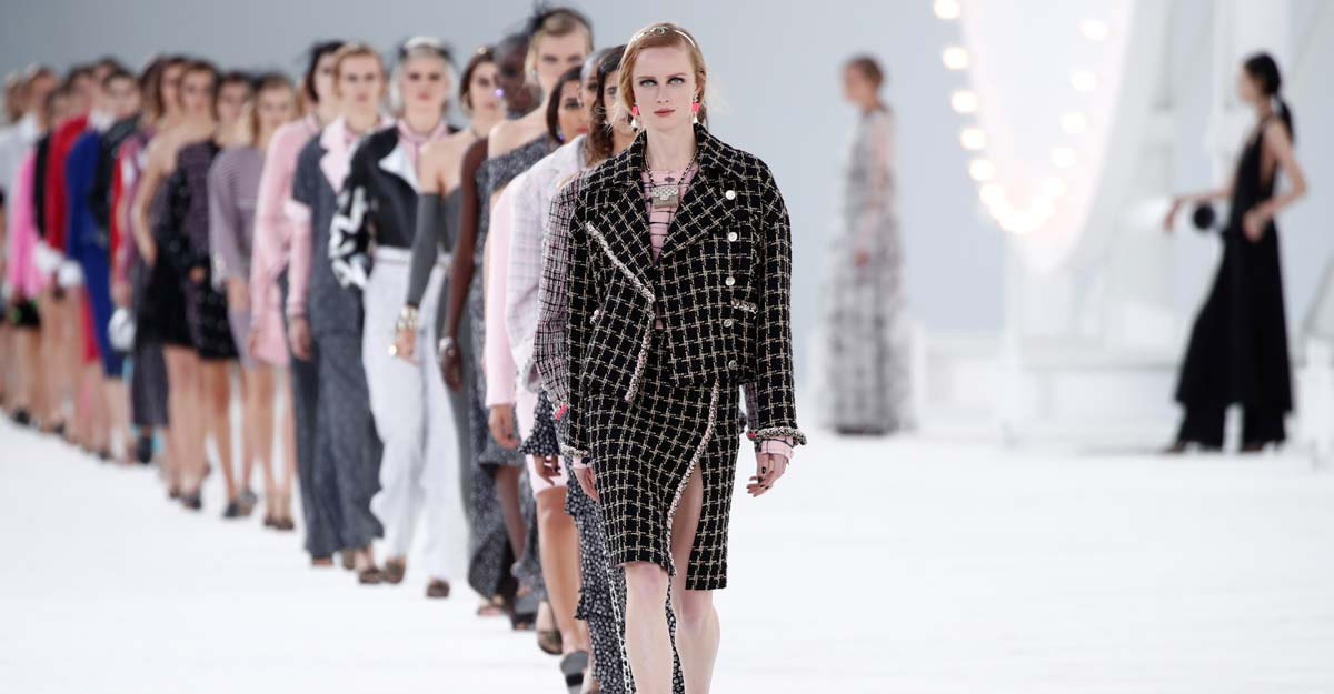 Hollywood glamour brought to Paris Fashion Week by French label Chanel