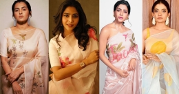 When celebs exuded feminine grace of exotic, hand-painted saris