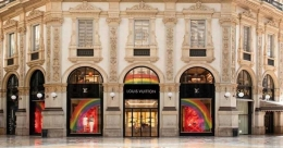 World's major luxury brands make 'Rainbow' symbol of hope
