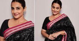 Actress Vidya Balan sizzles in sari with 'maths'
