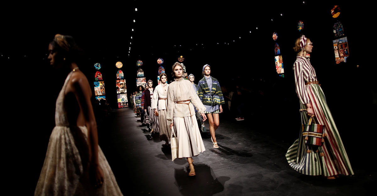 Dior returns to catwalk in Paris on a socially-distanced runway