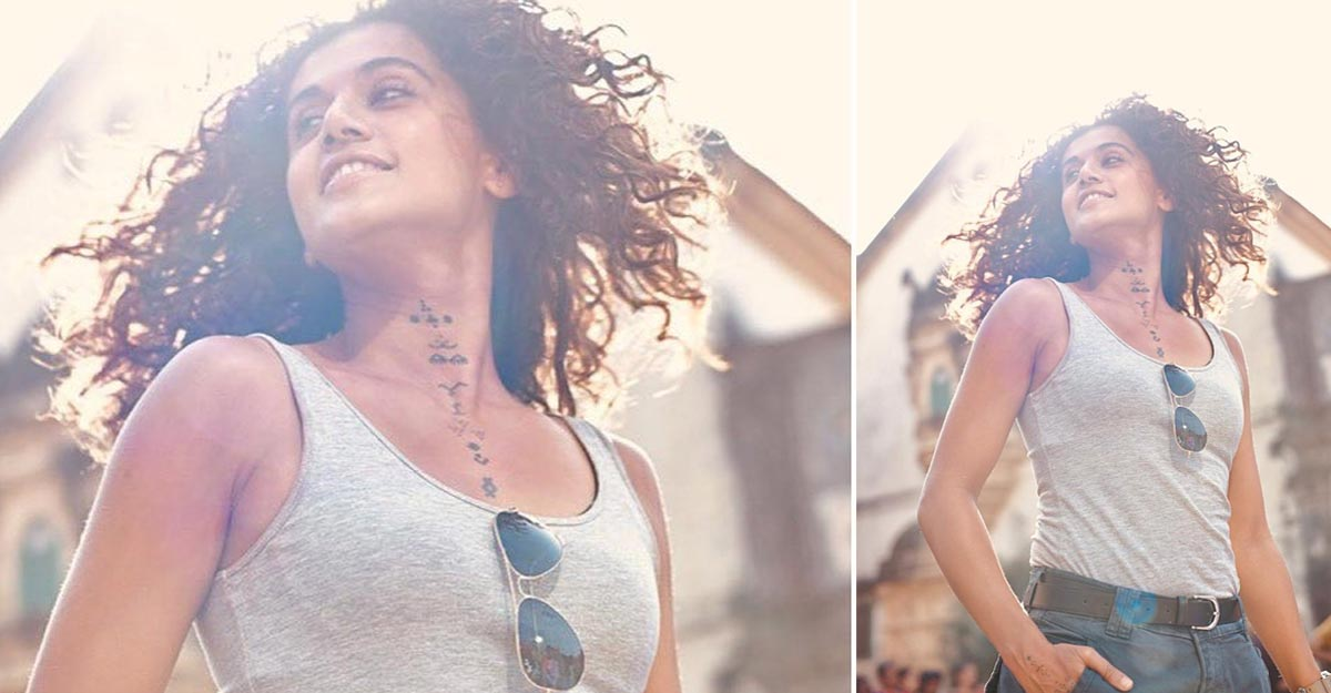 Taapsee Pannu flashes a 'flare in hair moment', sets social media on fire