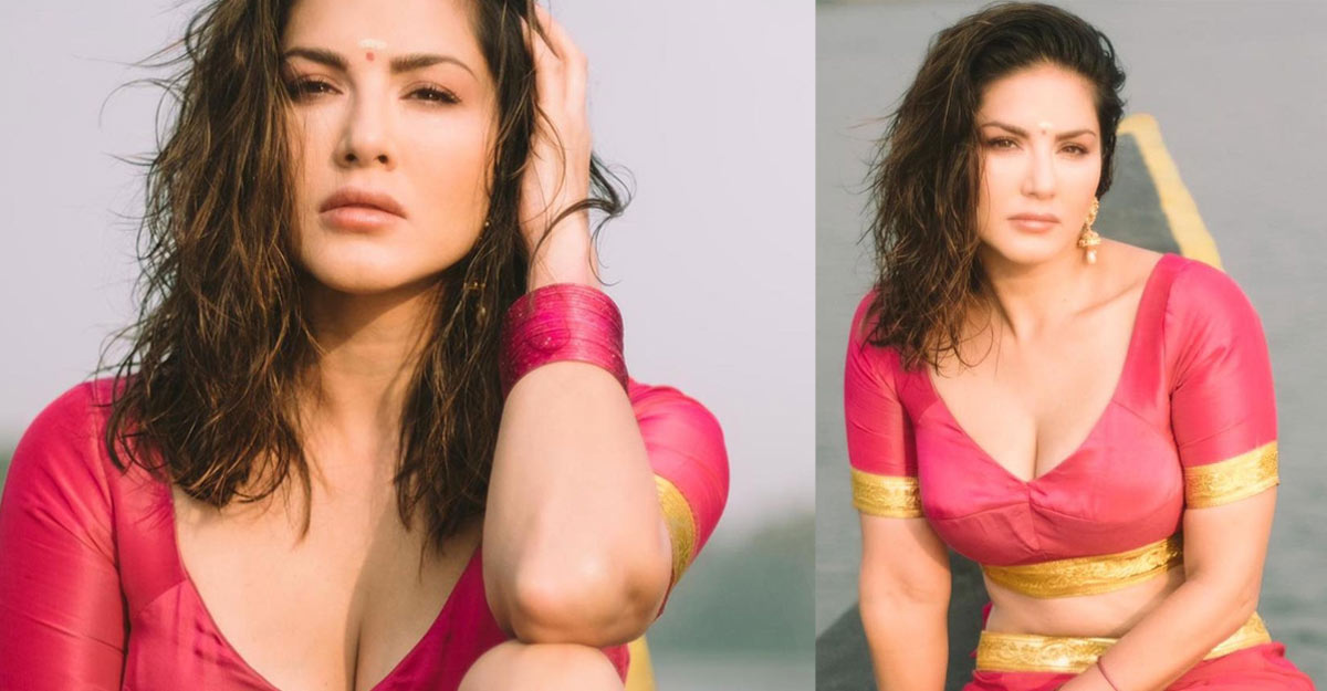 Actress Sunny Leone in traditional Kerala outfit, pix go viral