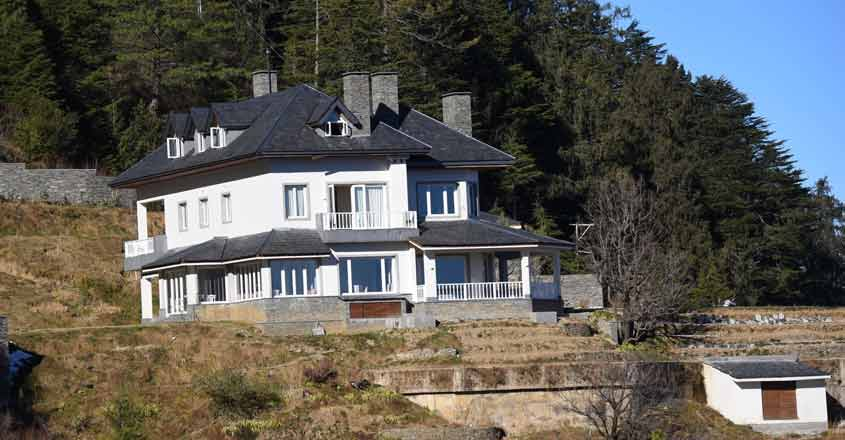Charabra: A view of the dream house of Congress General Secretary Priyanka Gandhi Vadra in Charabra, some 15 km uphill from Shimla in Himachal Pradesh, on July 26, 2019. (Photo: IANS)