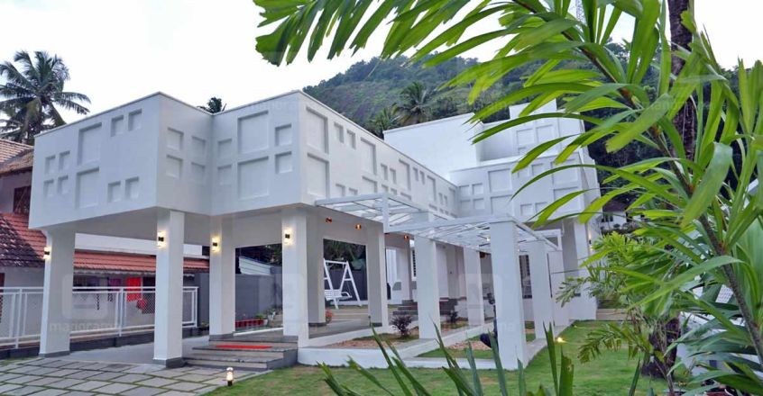 Magnificent and full of surprises, this Thalakode house is a dream in white