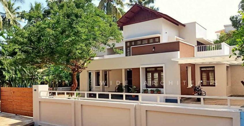 Simple makeover has transformed this Thrissur house into a modern abode