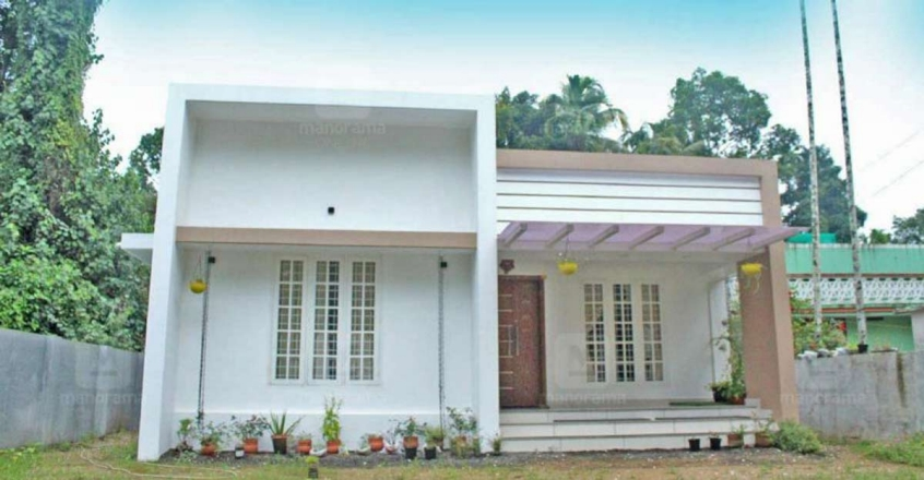 A cost-effective house in Kodungallur that is space efficient
