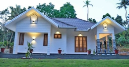 This chic single storey house in Kottayam is remarkably spacious