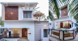 Chic, stylish and cost-effective house in Beypore built on 6 cents