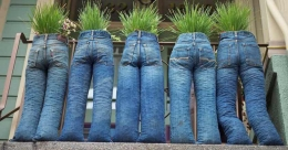 Try this unique 'jeans' garden to recycle your old denims