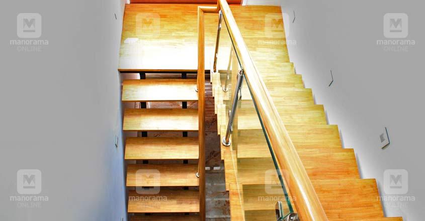 5-cent-house-kazhakoottam-stair