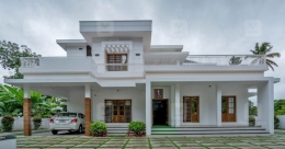 A wonder mansion in white is the cynosure of eyes in Karukutty
