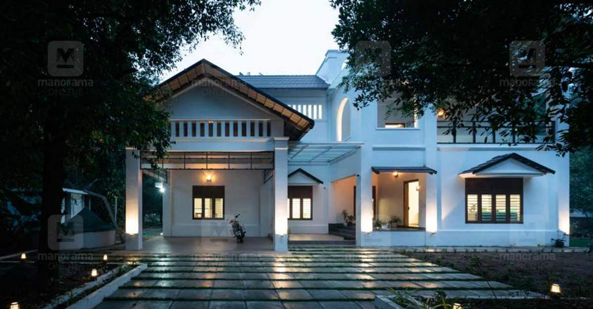 White-themed colonial mansion in Angamaly is a haven of positive vibes