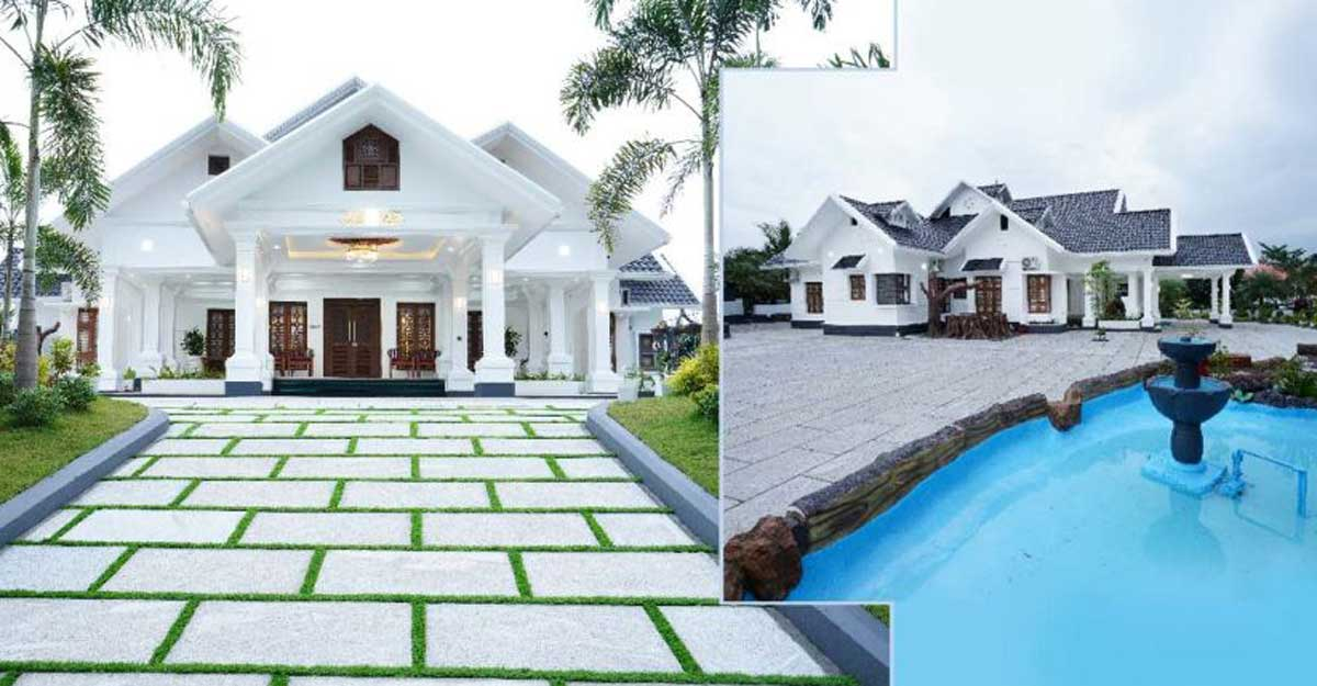 An unbelievably luxurious mansion in the cradle of nature in Kerala