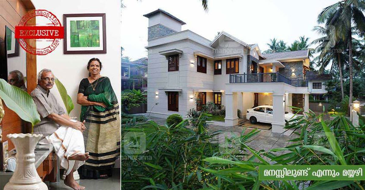 Writer M Mukundan's brand new house in Mahe keeps him close to his Mayyazhi