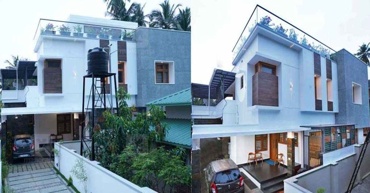 Lavish mansion built on a small plot in Kozhikode is unbelievable