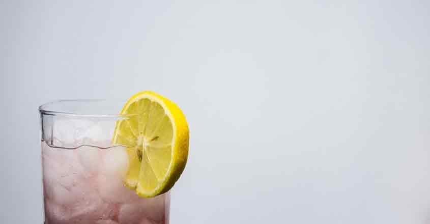 Lemon water for healthier you.