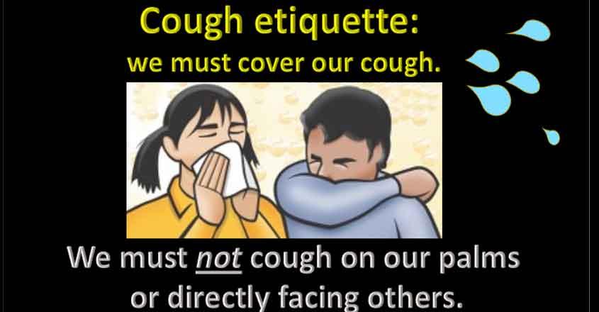 Cough ettiquette