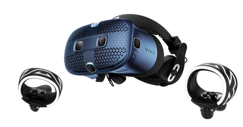 HTC VIVE Cosmos PC-based virtual reality (VR) system.