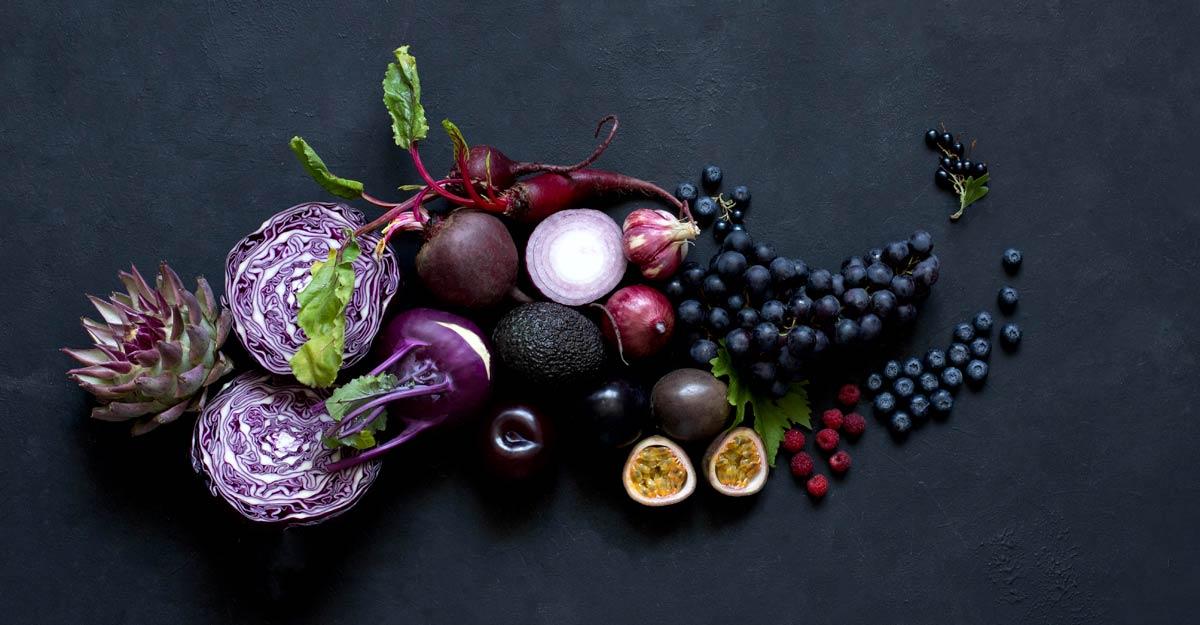 purple fruits vegetables