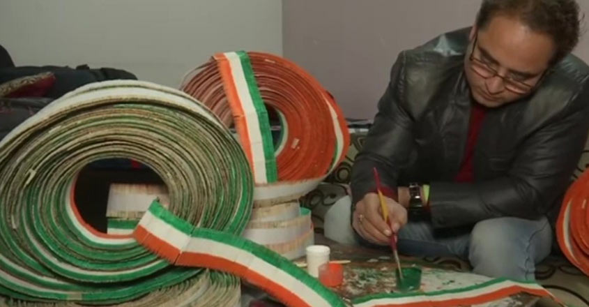 Ahead of R-Day, this teacher creates national flag with toothpicks