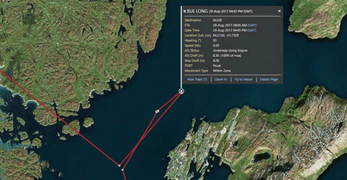 vessel tracking map