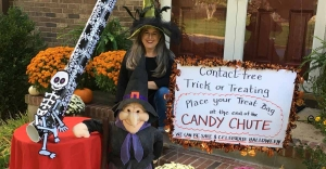 Halloween trick-or-treating through social distancing amid COVID-19