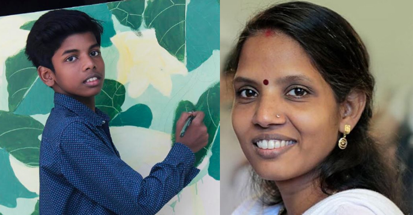 When child prodigy Anujath painted a perfect tribute to his mother