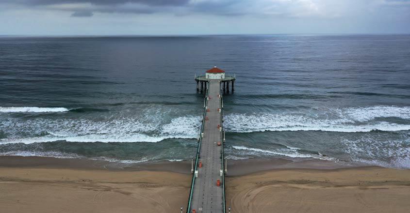 HEALTH-CORONAVIRUS-LA-BEACHES-DRONE