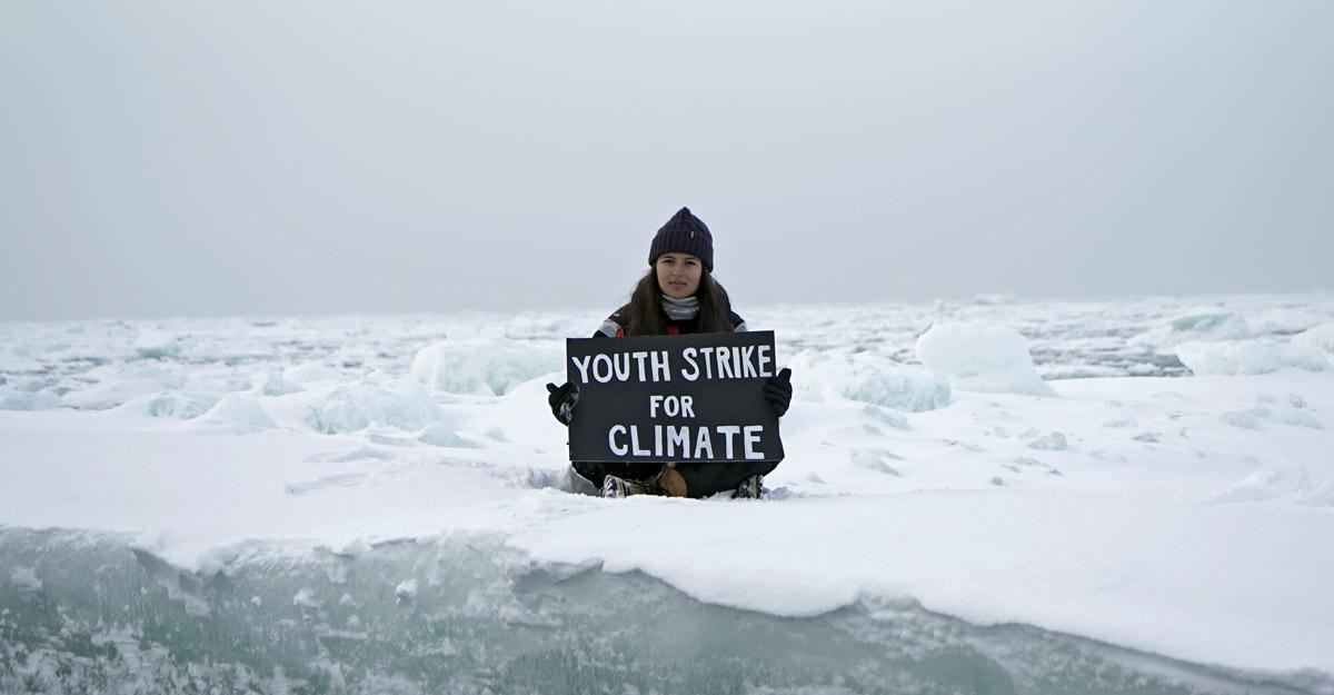 CLIMATE-CHANGE-ARCTIC-ACTIVIST