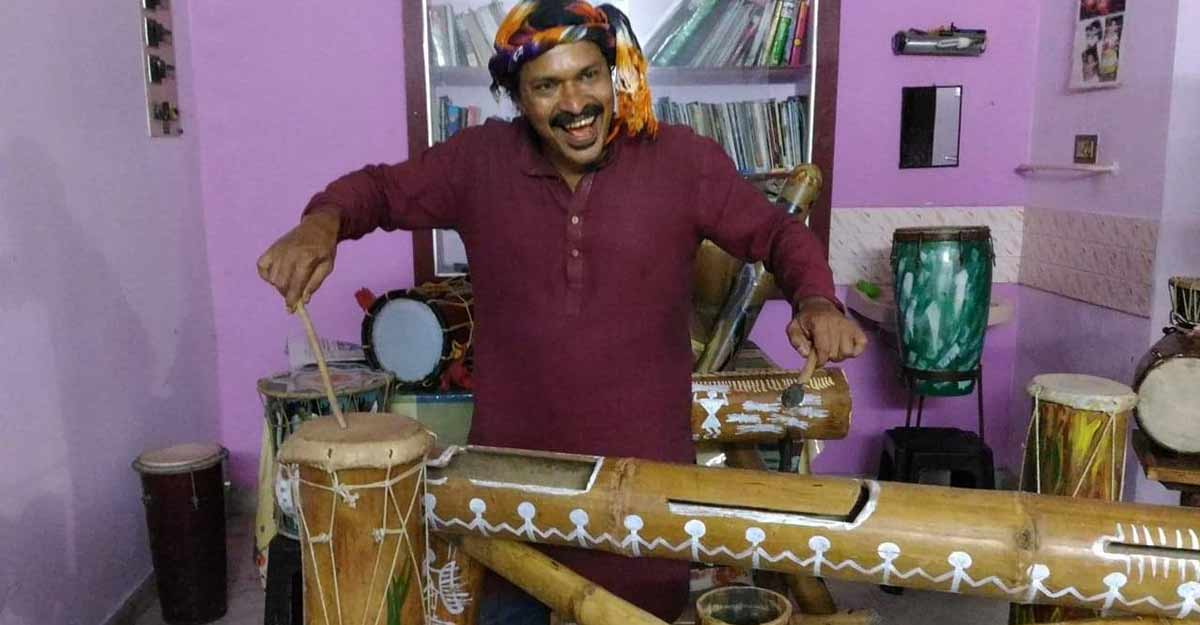Kerala folk musician promotes bamboo for conservation of nature
