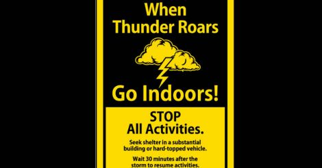 How to be safe from lightning