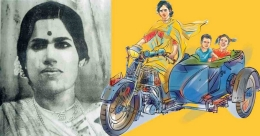 Probably Kerala's first woman rider, definitely a social pioneer