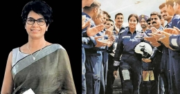 Is Gunjan Saxena IAF's first woman pilot to fly in combat?
