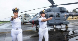 Two women officers to operate helicopters from warships