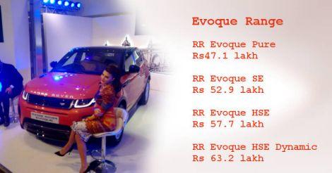 Range Rover Evoque price range