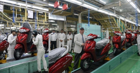 Honda doubles Gujarat plant's scooter capacity with new line