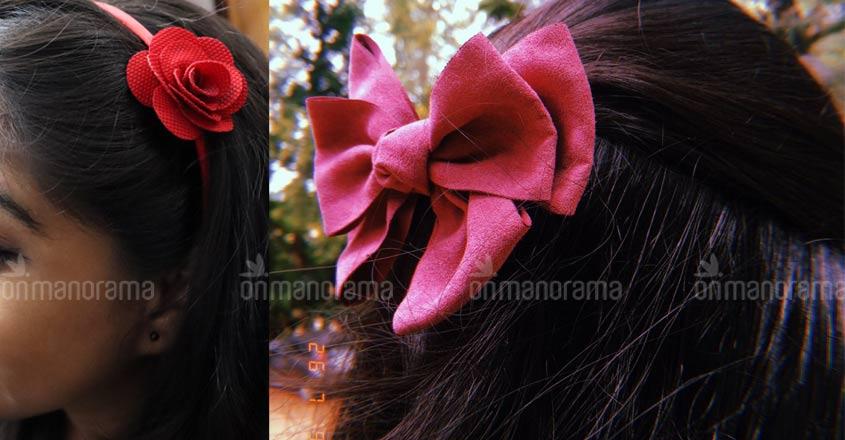 Mar Ivanios flaunts vintage fashion; 90's hair-bows back in vogue