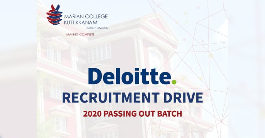 Marian College to host placement drive to US based MNC Deloitte