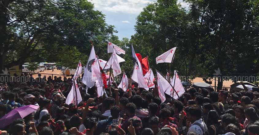 SFI secures Mar Ivanios College union